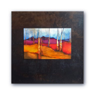 Artwork by Shelly Hearne- David Clack is working with fine artists like Shelly Hearne to apply their artwork onto tile. Image is UV laminated onto a 20x20 oxidized porcelain tile with a fade and scratch resistant coating. This elegant presentation is ready to hang and perfect for an office or home.