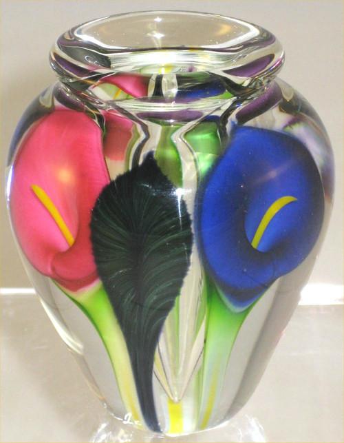 """Mini Calla Lily Vase in Blue, Pink and Purple"""