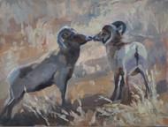 """""""Kissing Rams"""" by Terri Sanchez 9x12"""