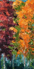 """High Mountain Brilliance"" Dawn Reinfeld 15x30"