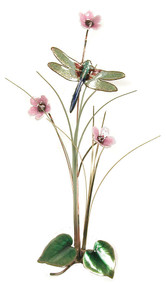 Small Dragonfly with Flowers by Bovano of Cheshire Metal