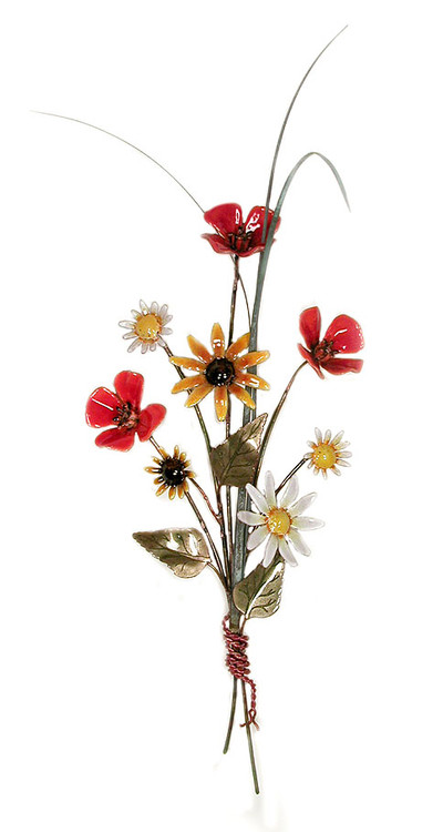 Tuscan Poppies with Daisies and Blackeyed Susan by Bovano of Cheshire Metal