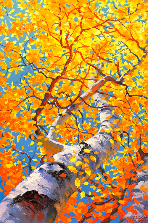 """Fiery Autumn"" Stanislav Sidorov, Oil, 36x24"