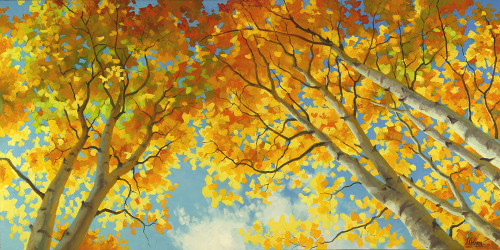 """Aspen Sky High"" Stanislav Sidorov, Oil 30x60"