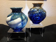 "These Large Woodlands Vase Campbell Pottery are 8.5"" high and is available in Stellar Cream/Green/Blue or New Glaze dark and Light Please call to get photos of current on-hand pieces. (970) 586-2151."