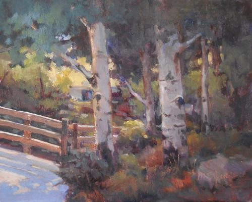 """Estes Aspen"" by Margaret Jensen Oil, 8x10"
