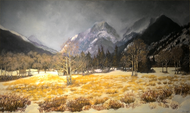 """Early Autumn Snow, Rocky Mountain National Park"" Lyse Dzija 20x34"