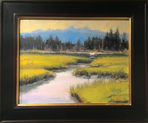 """""""Beaver Pond A"""" by George Coll, 14x18"""