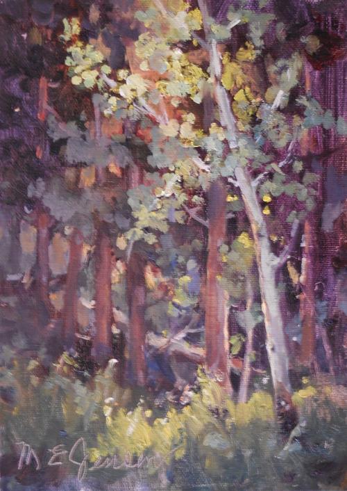 """""""Spring Aspen"""" by Margaret Jensen 5x7"""