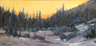 """Last Light of Day, RMNP"" by George Coll, 10x20"