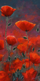 """Poppies"" by Terri Sanchez 12x24"