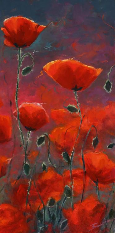 """Poppies"" by Terri Sanchez 12x24"