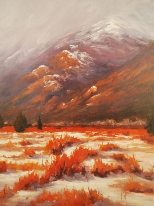"""Moraine Winter"" by Terri Sanchez 18x24"