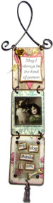 """My Dog Thinks"" Triptych by Jennifer Coniff  """"May I always be the kind of person...my dog thinks I am."""