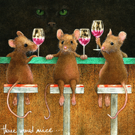 """Three Wined Mice"" by Will Bullas"