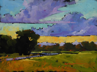 """Road to Evening"" by Coni Grant, 9x12"