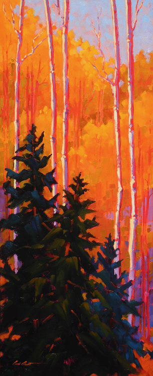 """""""Pine in Aspenwood"""""""" by Coni Grant, 24x10"""