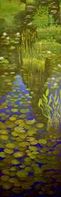 """Lily Pads"" by Lyse Dzija 60x20"