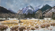 """Early Autumn in the Rockies"" by Lyse Dzija 34x20"
