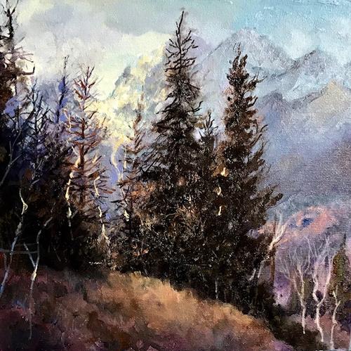 """Approaching Storm, RMNP"" by Lyse Dzija 12x12"