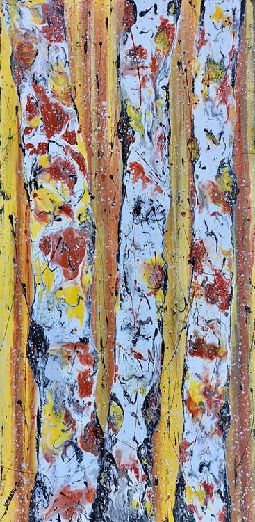 """Autumn Flurries"" by Kimberly Conrad 30x15"