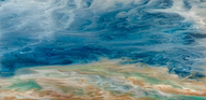 """The Glory of the Storm — Seascape 24"" by Kimberly Conrad 24x48"