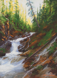 """Mountain Runoff"" by Terri Sanchez 12x16"