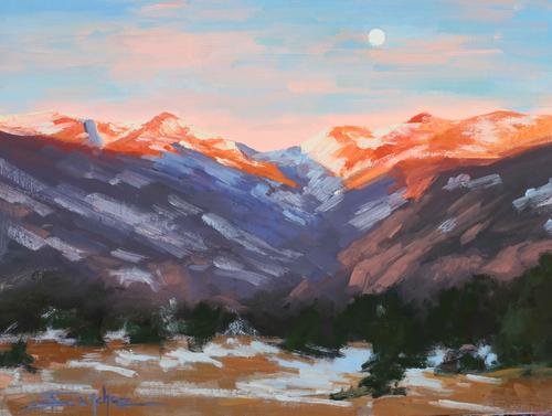 """""""Sunrise Moon"""" by Terri Sanchez 9x12"""