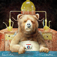 """Bearista..."" Metal Print by Will Bullas 8x8"
