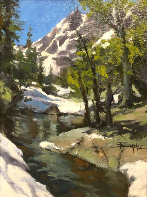 """Spring Thaw"" by Terri Sanchez 9x12"