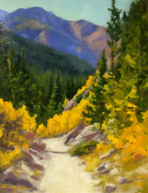 """Autumn Hike"" by Terri Sanchez 11x14"