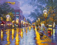 """Azure Evening, 16th Street"" by Stanislav Sidorov 30x24"