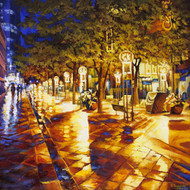 """Glowing Lanterns, 16th Street"" by Stanislav Sidorov 30x30"