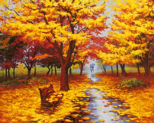 """""""Autumn Cascade"""" by Stanislav Sidorov 30x24"""