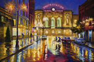 """Neon Puddles, Union Station"" by Stanislav Sidorov 24x36"