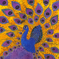 """Royal Peacock"" by Yelena Sidorova 24x24"