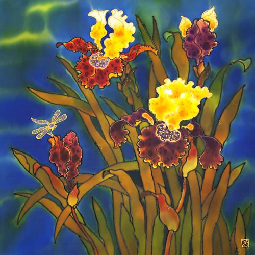 """""""Irises"""" by Yelena Sidorova 24x24"""