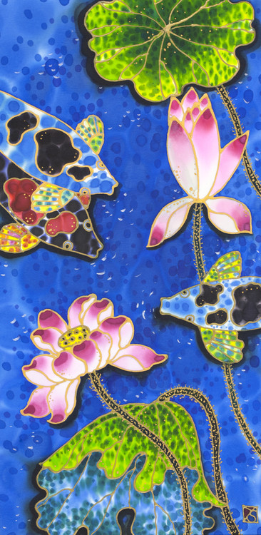 """Lotus Pond"" by Yelena Sidorova 12x14"