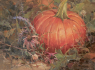 """Pumpkin Portrait"" by Margaret Jensen 9x12"
