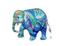 """Happy Elephant"" by Brooke Connor"