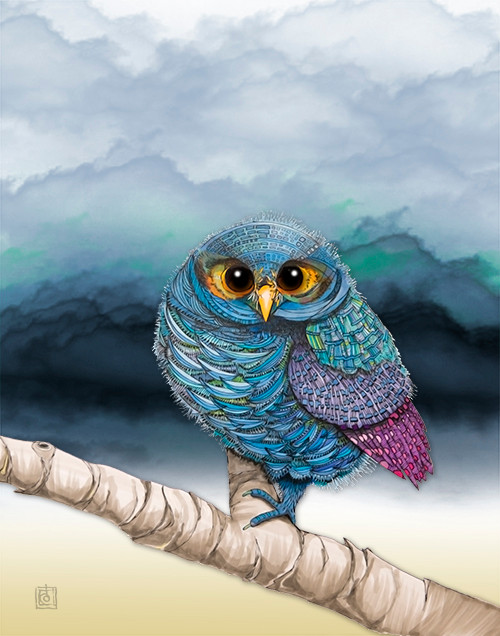 """""""Flammulated Owl In Cloudy Weather"""" by Brooke Connor"""