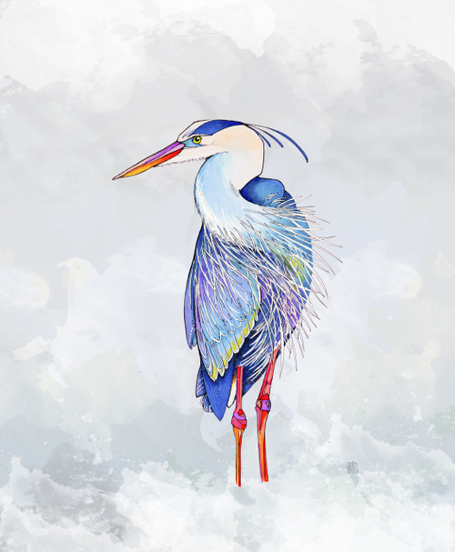 """""""Great Blue Heron"""" by Brooke Connor"""