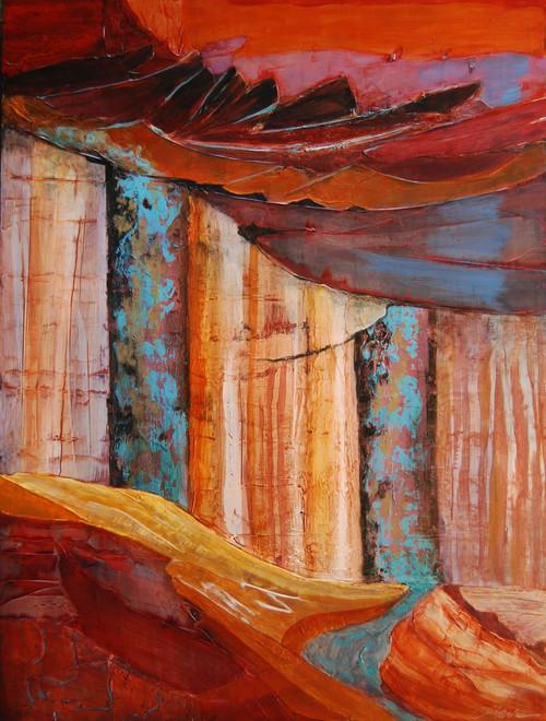 """Redrock Stage"" by Connie Slack, 24x18"