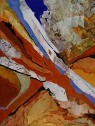 """""""Erosion"""" by Connie Slack, 24x18"""