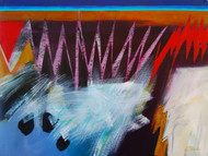 """Three Stones by Connie Slack, 32x40"