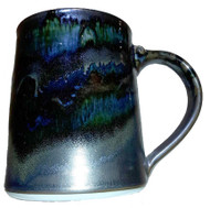 "This 20oz. Stein in BLACK GALAXY from Cascadia Stoneware is 4.75"" tall and perfect to pre chill for a nice frosty beverage. Cascadia Stoneware is designed for everyday use.  Each piece is lead free, microwave, oven & dishwasher safe. Follow basic pottery care guidelines to ensure many years of use with stoneware pottery."