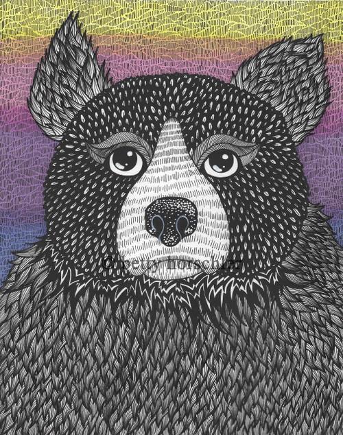 """""""Sunset Bear"""" by Betty Horschler 12½ x15½"""