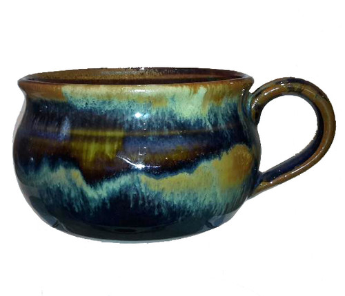 "This is a 5"" diameter Soup Mug with a handle in GOLDSTONE from Cascadia Stoneware. Cascadia Stoneware is designed for everyday use.  Follow basic pottery care guidelines to ensure many years of use with stoneware pottery."