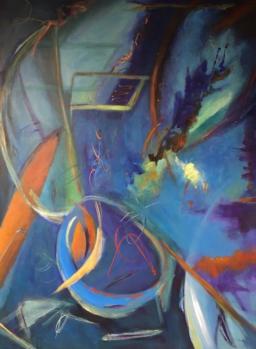 """Action — Reaction"" by Laura Brenton 36x48"