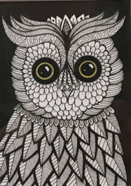 """Little Owl"" by Betty Horschler 7x9"